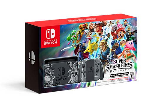 Super Smash Bros Ultimate Switch bundle pack