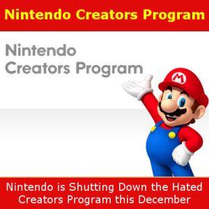 Nintendo Ending the Nintendo Creators Program