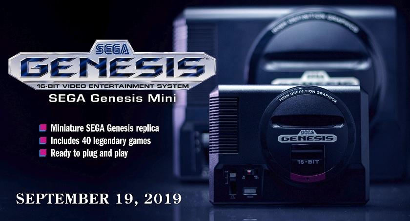 The Sega Genesis Mini home console