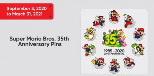 Super Mario 35th Anniversary Pin Set