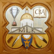 """Commissioned plaque, 11.25"""" x 11.25"""", painted basswood."""