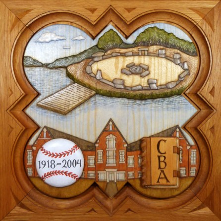 """SPS Form of 2005 Plaque, 11.25"""" x 11.25"""", painted basswood."""