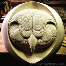 Carving of hte feathers is complete.