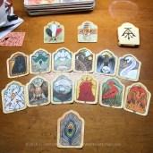 The Alchemical Aviary card spread.