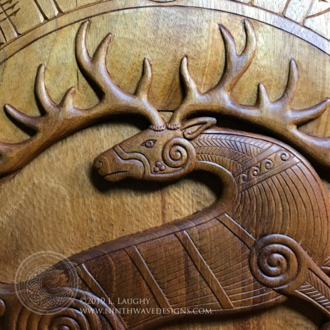 Detail of the finished shield.