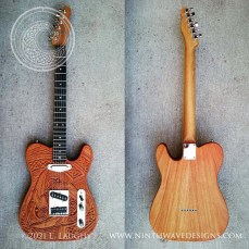 The fully assembled Triple Raven T-Style guitar.
