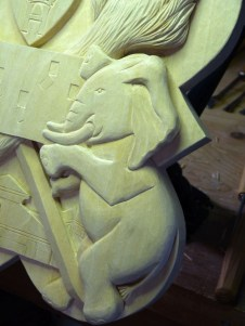 Detail of the elephant.