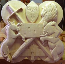 The finished carving for the 2001 plaque.