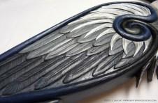 Celtic heron wing detail.