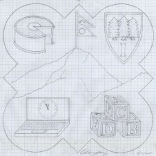 Design drawing for the 2015 plaque.