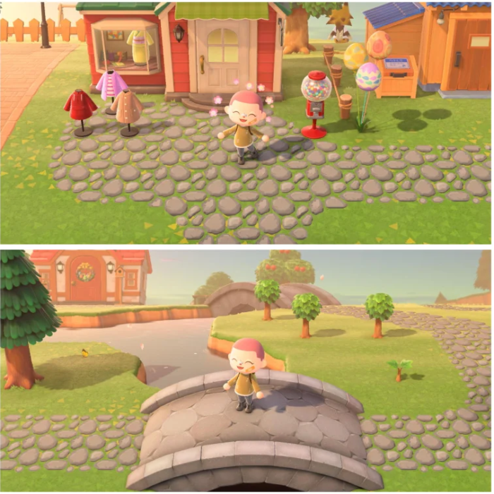 Animal Crossing patterns – cobblestone