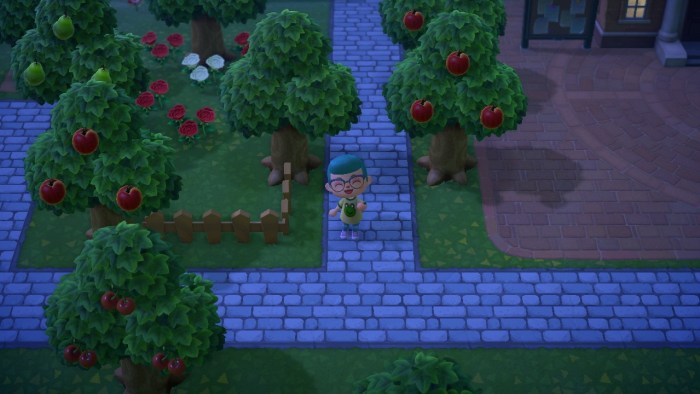 Animal Crossing stone path