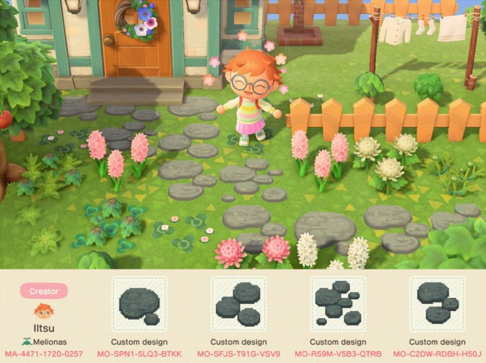 Animal Crossing paths – stepping stones