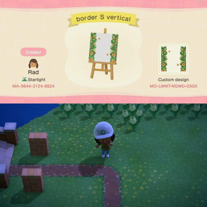Animal Crossing dirt path pattern