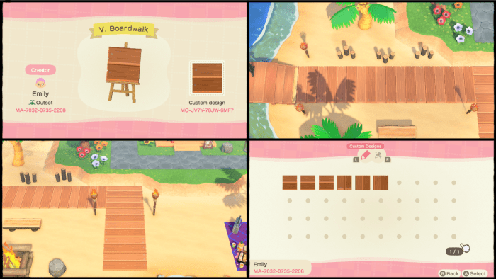 Animal Crossing dock pattern