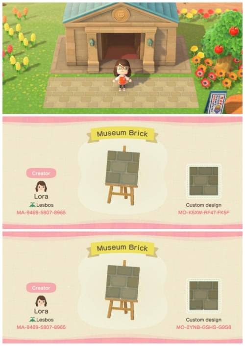 Animal Crossing museum brick path