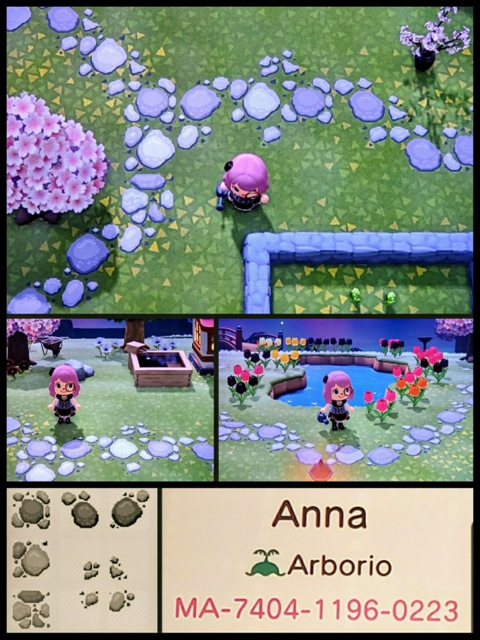 Animal Crossing stone path pattern