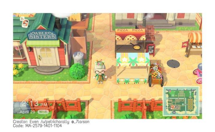 Animal Crossing terracotta path border