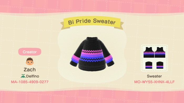 Animal Crossing Bi Pride Sweater