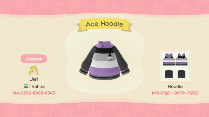 Animal Crossing lgbt Ace hoodie