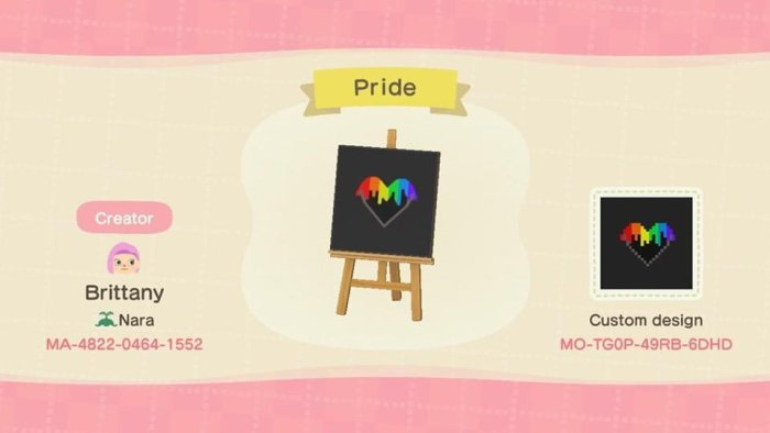 Animal Crossing LGBT dripping heart