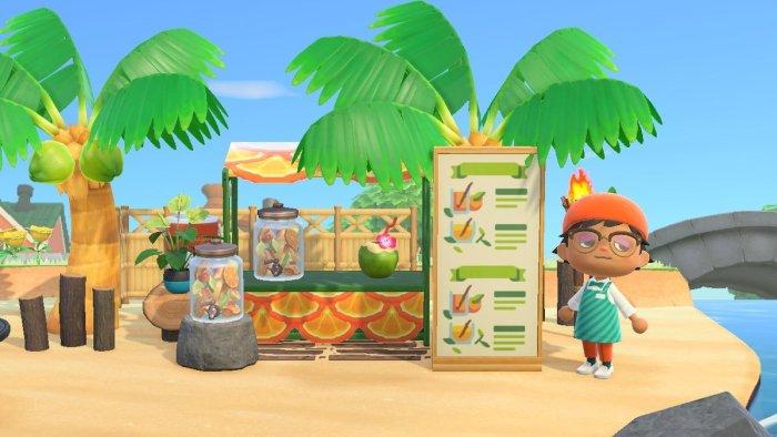 Animal Crossing signs Tiki Bar Drink Menu