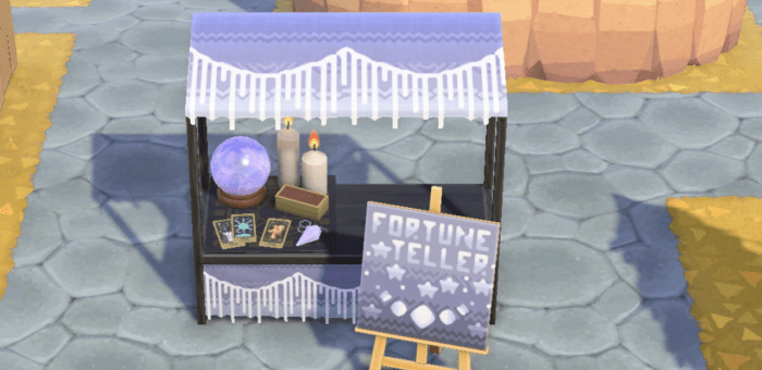ACNH fortune teller stand