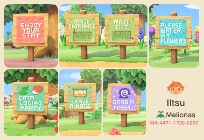 Cute Animal Crossing signs