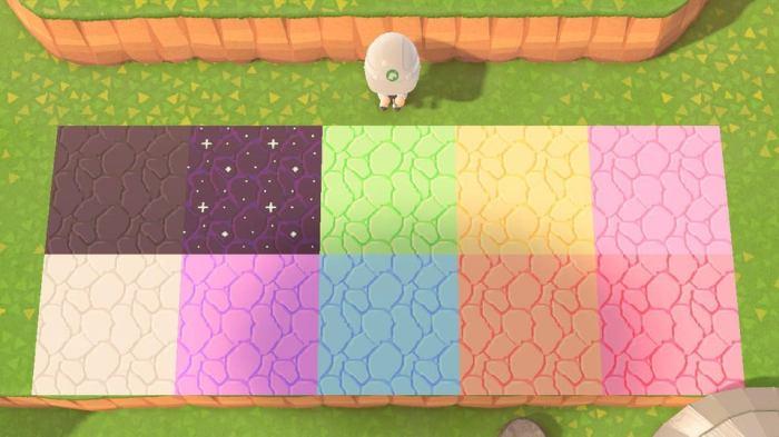 Animal Crossing paths rainbow bricks