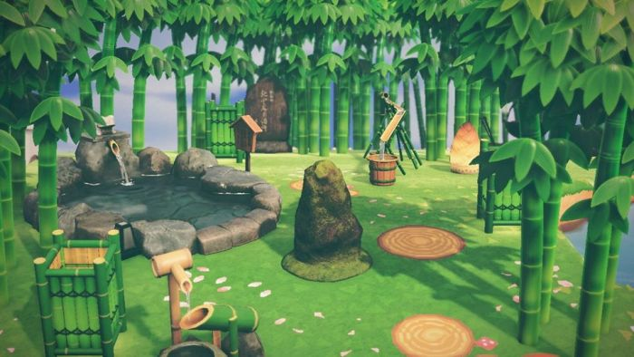 ACNH bamboo garden