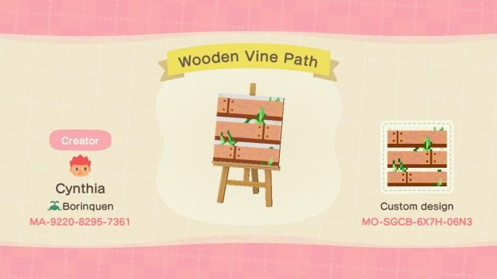 Animal Crossing wood paths