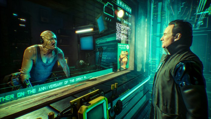Observer cyberpunk game on Switch with detective elements