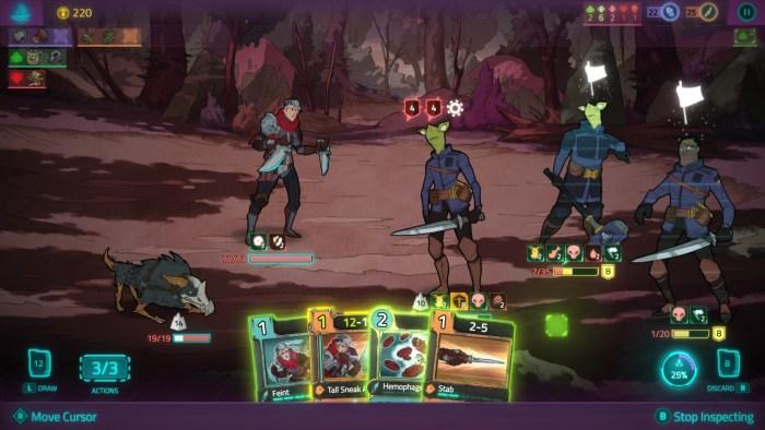 Griftlands card battle switch