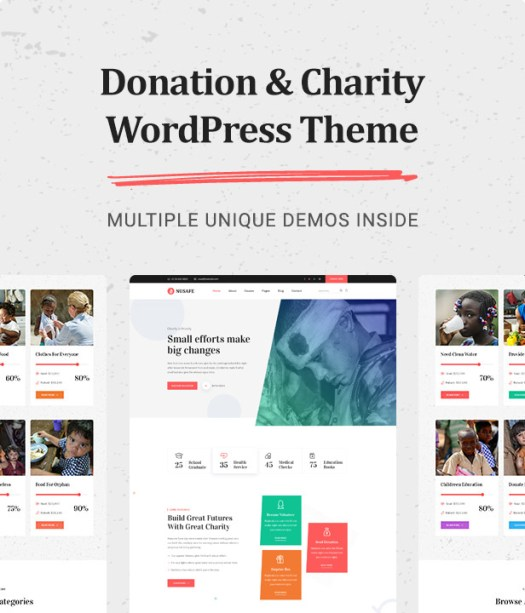 Nusafe | Responsive WordPress Theme for Donation & Charity - 5