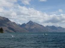 Lake Wakatipu vu depuis Queenstown.