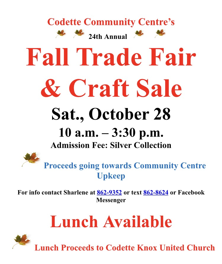 Codette's Fall Trade Fair & Craft Sale