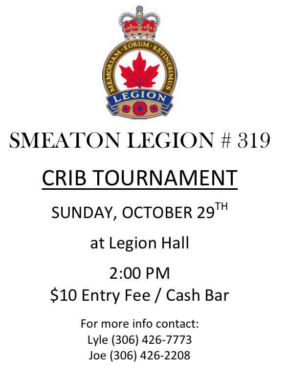Crib Tournament - Smeaton
