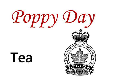 Nipawin Legion Poppy Day Tea