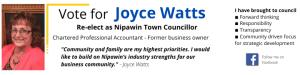 Re-elect Joyce Watts