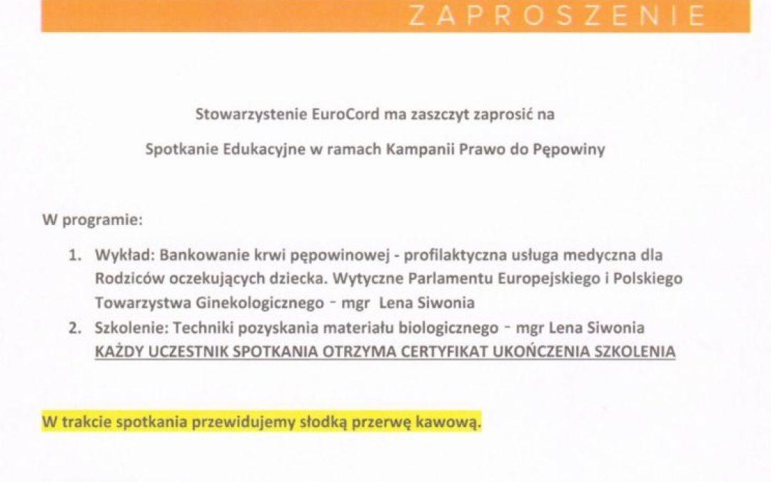 """Bezpłatne szkolenie """"Prawo do Pępowiny"""" w dniu 26 kwietnia 2017 r. o godz. 12:00 w Okręgowej Izbie Pielęgniarek i Położnych w Rzeszowie przy ul. Rymanowskiej 3."""