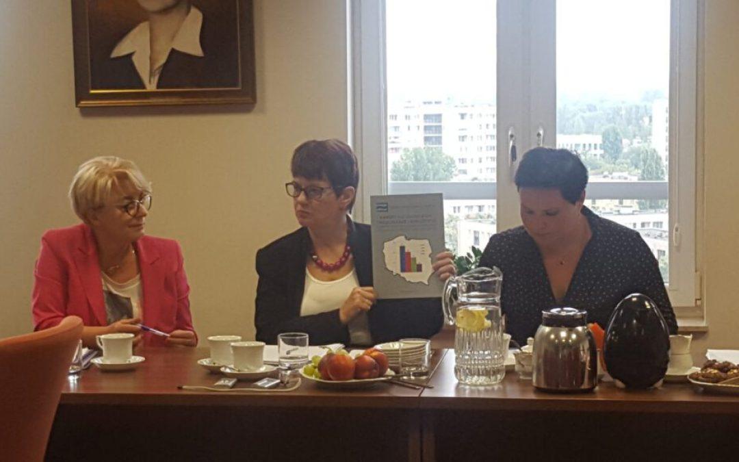 Spotkanie przedstawiciela ICN Karen Bjoro z Prezydium NRPiP