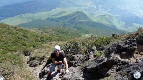 A l'assaut du mont Yufu, Yufuin, Oita