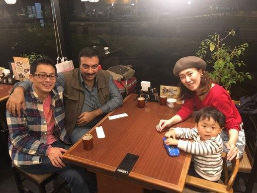 مع السيد ناكاغاوا وأسرته