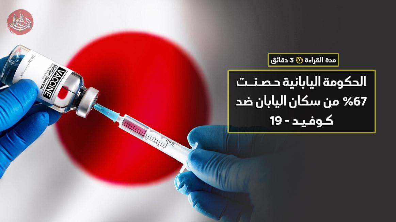 الحكومة اليابانية حصنت 67% من سكان اليابان ضد كـوفـيـد - 19