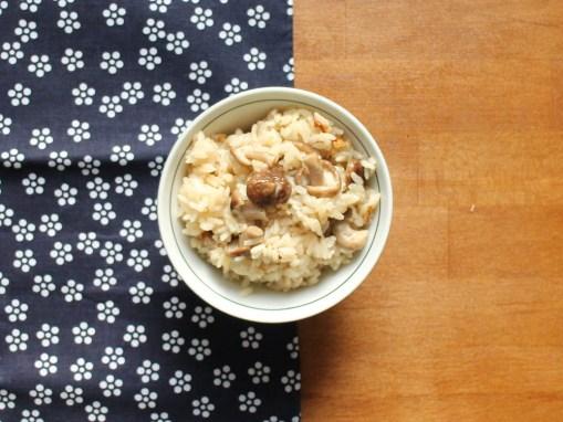 SHIITAKEGOHAN – Reis mit Shiitakepilzen