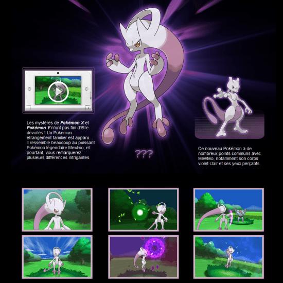 Actu Jeux Video, Jeux Vidéo, Nintendo 3DS, Pokémon X, Pokémon Y, Trailer, Mewthree