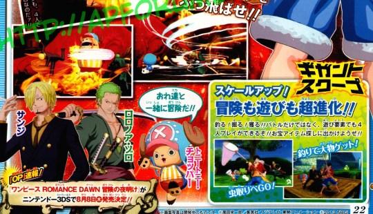 Actu Jeux Video, Jeux Vidéo, Namco Bandai, Nintendo, Nintendo 3DS, One Piece Unlimited World Red,
