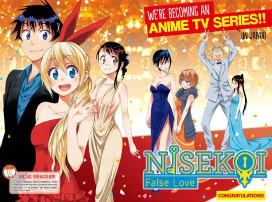 Nisekoi, Kazé Manga, Shueisha, Actu Japanime, Japanime, Actu Manga, Manga,