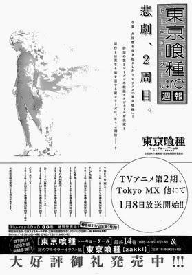 Weekly Young Jump, Sui Ishida, Actu Japanime, Japanime, Tokyo Ghoul Saison 2,