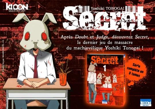 Secret, Yoshiki Tonogai, Manga, Actu Manga, Ki-oon,